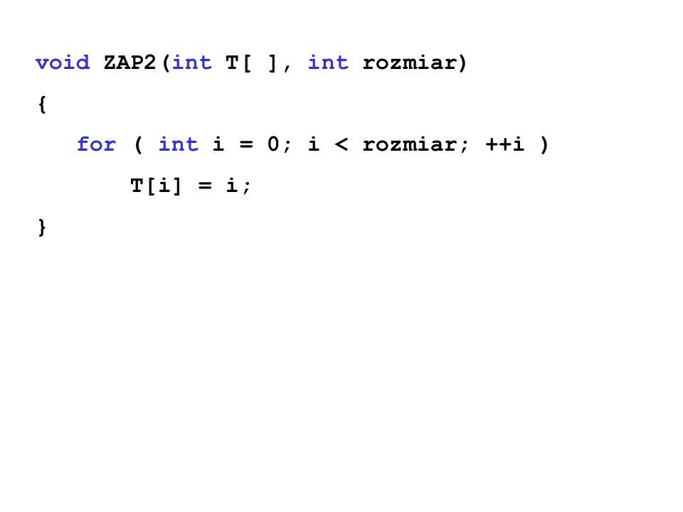 void ZAP2(int T[ ], int rozmiar)
